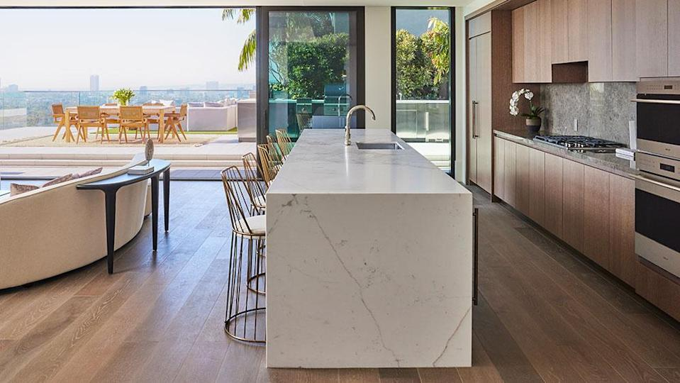 The open-layout kitchen. - Credit: Photo: Justin Coit