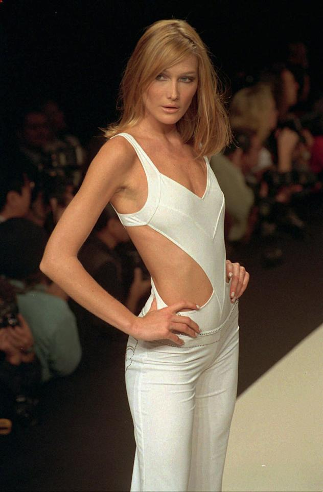 Il passato da top model di Carla Bruni