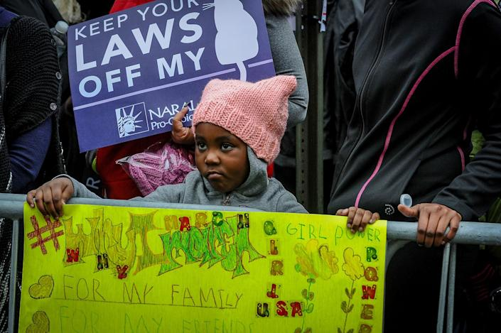 "<p>Zyah Brown, 5, DC said ""I wanna tell Donald Trump he needs to be nice to girls."" Thousands of demonstrators gather in the Nation's Capital for the Women's March on Washington to protest the policies of President Donald Trump. January 21, 2017. (Photo: Mary F. Calvert for Yahoo News) </p>"