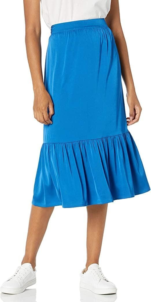 <p>This <span>The Drop Jerry Midi Skirt</span> ($45) pairs well with a classic tee.</p>