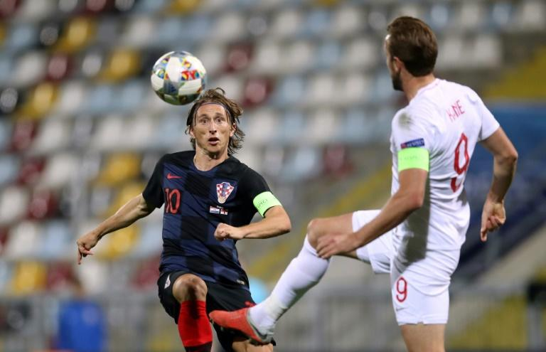 Luka Modric played in an empty stadium in the goalless draw against England