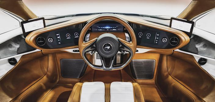 The interior of the car features many one-off touches by Hermès.