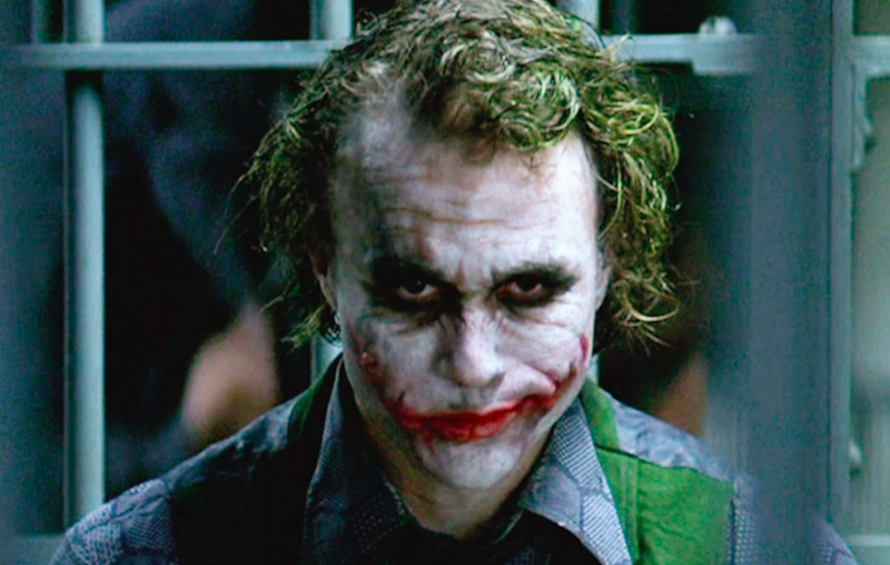 Heath Ledger as the Joker in The Dark Knight (Credit: Warner Bros)
