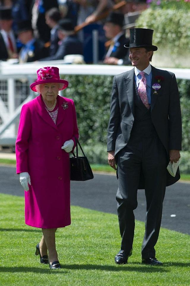 Queen Elizabeth II's passion for Royal Ascot and racing is testified to her not having missed one day of the meeting since her coronation in 1953 Her Majesty's Representative Johnny Weatherby told AFP in a rare interview (AFP Photo/CARL COURT)