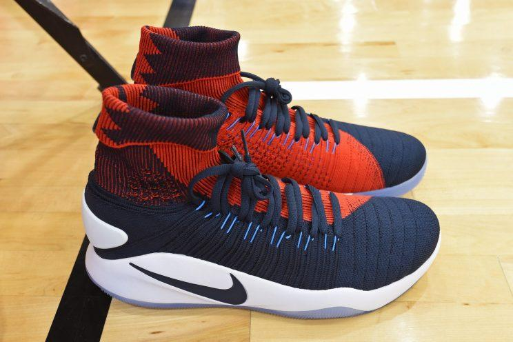 new products 7b6bb e9bc3 Paul George s Nike Hyperdunk 2016 Flyknit. (Getty)