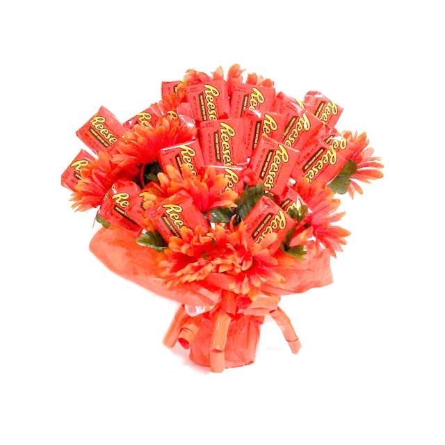 Reese's cups and matching bright orange flowers are a match made in heaven. (Photo: Walmart)
