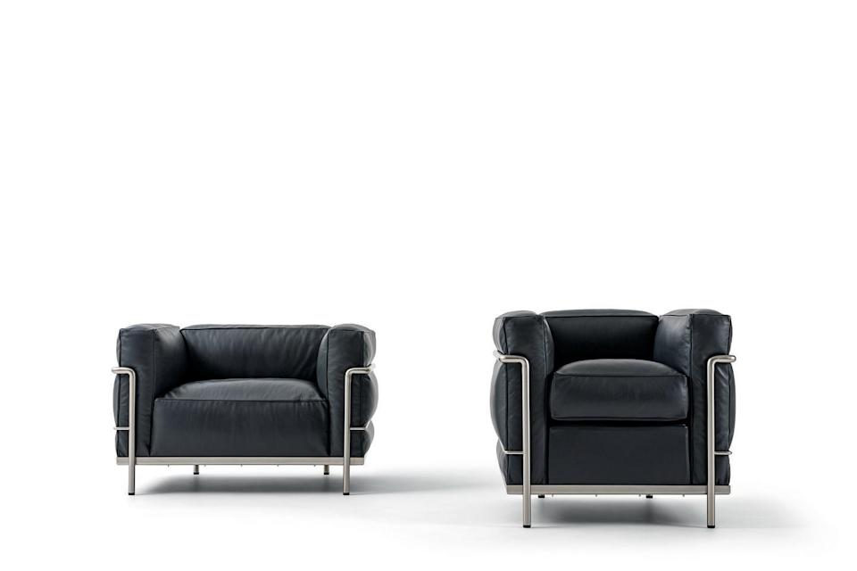 """<p>Designed by the pioneering trio in 1928, these striking pieces were well ahead of their time. Created from bent tubular steel and leather seat cushions, they marry functional, clean-lined aesthetics with supreme comfort. From £5,805, <a href=""""https://go.redirectingat.com?id=127X1599956&url=https%3A%2F%2Fwww.conranshop.co.uk%2F&sref=https%3A%2F%2Felledecoration.co.uk%2Fdesign%2Fg36861206%2Fbest-modern-armchair%2F"""" rel=""""nofollow noopener"""" target=""""_blank"""" data-ylk=""""slk:conranshop.co.uk"""" class=""""link rapid-noclick-resp"""">conranshop.co.uk</a></p>"""