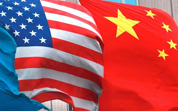 US and Chinese flags - VGC
