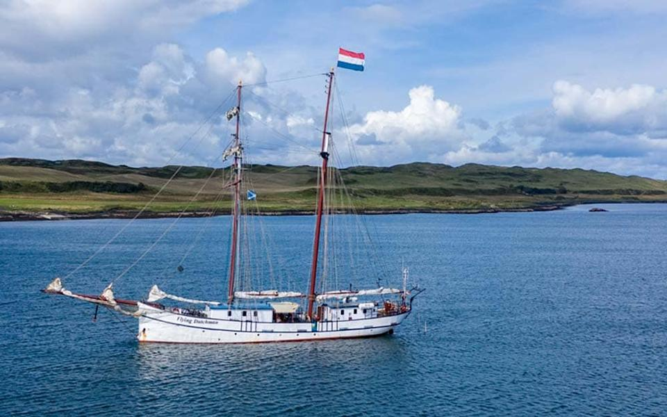 The Flying Dutchman tall ship is a member of the Scottish Small Cruise Ship Association