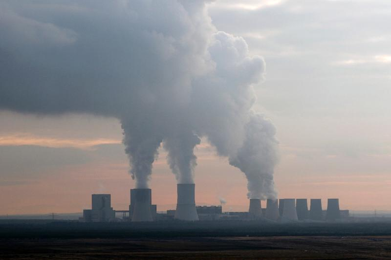 A coal-fired power plant in Germany's east, where protests against the country's plan to shutter its coal sector have been loudest