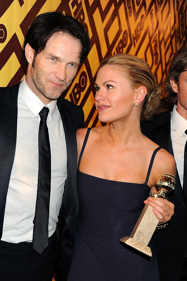 "Anna Paquin looked ready to take a bite out of her handsome ""True Blood"" costar Stephen Moyer. Jeff Kravitz/<a href=""http://www.filmmagic.com/"" target=""new"">FilmMagic.com</a> - January 11, 2009"