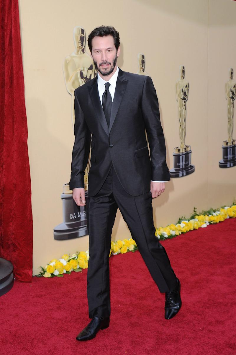 Keanu Reeves arrives at the 82nd Annual Academy Awards held at Kodak Theatre on March 7, 2010 in Hollywood, California.