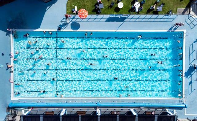 Overhead view of Hathersage Swimming Pool