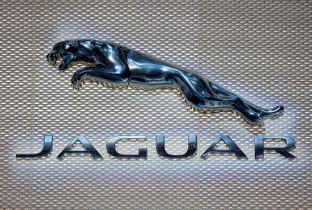 The logo of Jaguar is seen during the 88th International Motor Show at Palexpo in Geneva, Switzerland, March 6, 2018. REUTERS/Pierre Albouy
