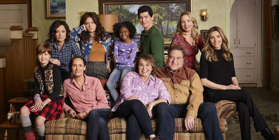 The cast of the reboot of <i>Roseanne</i>. (Photo: ABC)