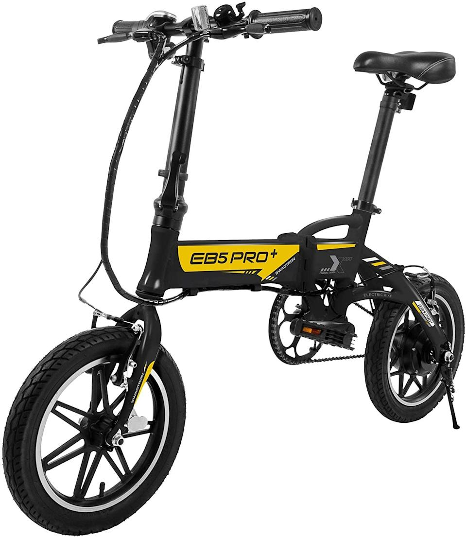 <p>If you want to move around the city effortlessly, go with this <span>Swagtron Swagcycle EB5 Plus Folding Electric Bike with Removable Battery</span> ($500).</p>