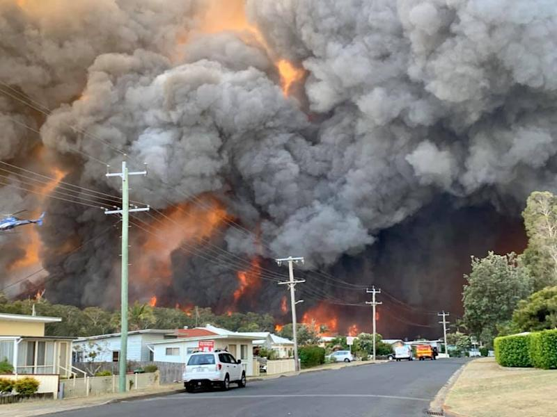 Casino local Kelly-ann Oosterbeek took this photo of Harrington on her way to Sydney on Friday. Source: Kelly-ann Oosterbeek