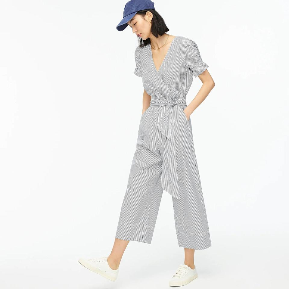 <p>If you like to get dressed in less than 60 seconds, then this <span>Cotton Poplin Jumpsuit</span> ($46, originally $148 (plus extra 60% off with code SALETIME) might become your new uniform. It's made from a slightly stretchy cotton poplin fabric, and features a wide leg and some cute ruffles on the sleeves for a comfortable, feminine look.</p>