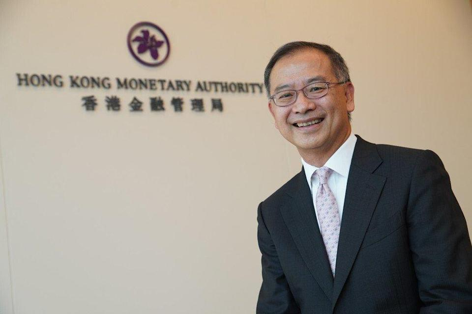 Eddie Yue Wai-man, CEO of the Hong Kong Monetary Authority at the office of the de facto central bank at the IFC in Central on 9 March 2021. Photo: Winson Wong