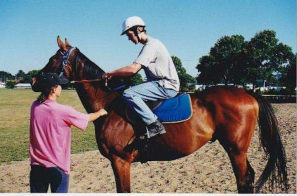 PHOTO: Jason Dohring at 17 during jockey training in New Zealand for his first movie role in Disney Channel's 'Ready to Run.' (Jason Dohring)