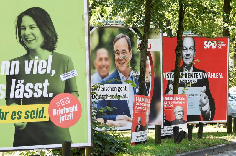 FILE PHOTO: Election Posters in Hamburg