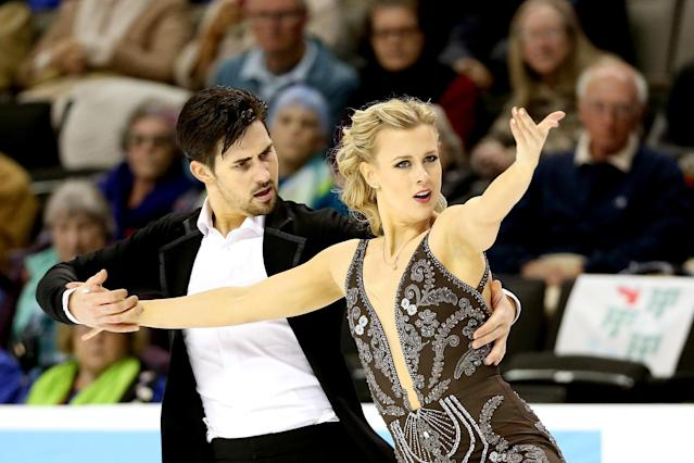 <p>Hot off their win at the 2018 U.S. championships, Madison Hubbell and Zachary Donohue, make their Olympic debut at Pyeongchang.<br>(Photo by Matthew Stockman/Getty Images) </p>