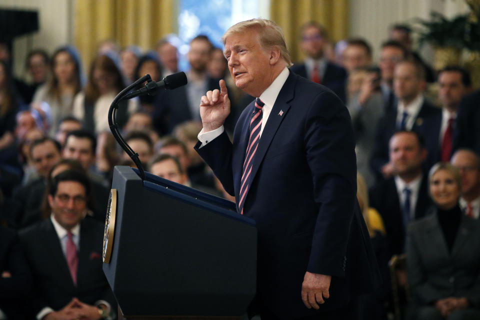President Donald Trump is expecting the Chiefs to visit the White House.  (AP Photo/Patrick Semansky)