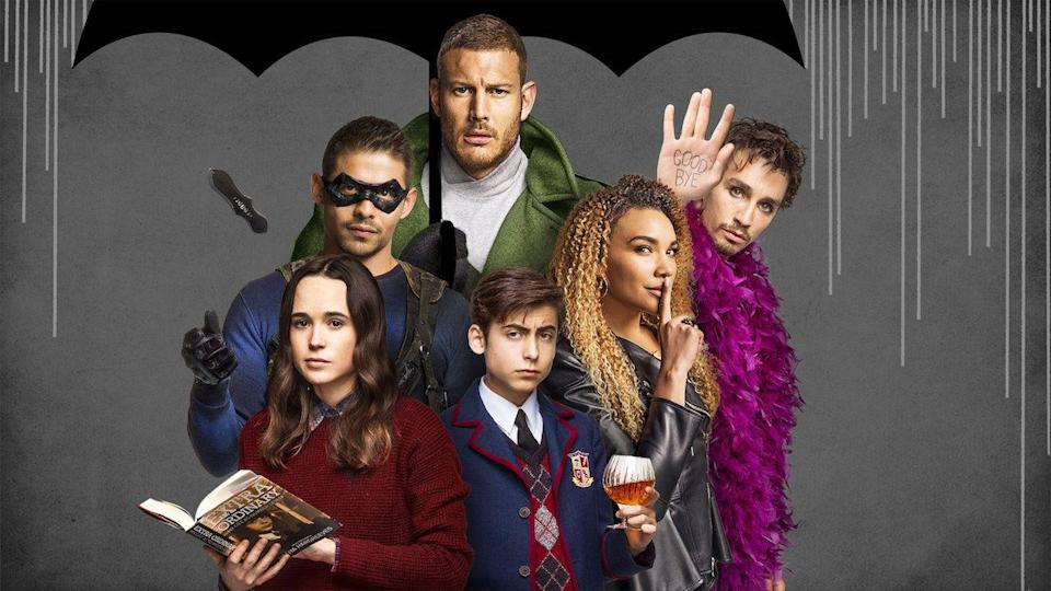 """<p>In a twist on superhero tales, this show follows a group of estranged """"siblings"""" with special abilities. When their adopted father dies, they come together again to fight a threat to all mankind. This show can get violent, so it's not for the younger tweens.</p><p><a class=""""link rapid-noclick-resp"""" href=""""https://www.netflix.com/title/80186863"""" rel=""""nofollow noopener"""" target=""""_blank"""" data-ylk=""""slk:WATCH NOW"""">WATCH NOW</a></p>"""