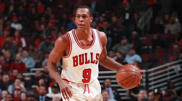 Chicago Bulls point guard Rajon Rondo will not play in Game 6 of the team's first-round series against the Boston Celtics because of an injured thumb.