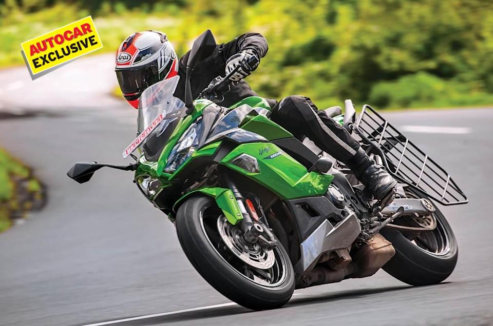 The Ninja 1000SX doesn't shy away from a set of corners, and yes, that hideous saree guard can be removed.