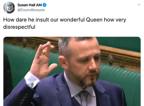Susan Hall criticised the MP for his actions (Twitter)