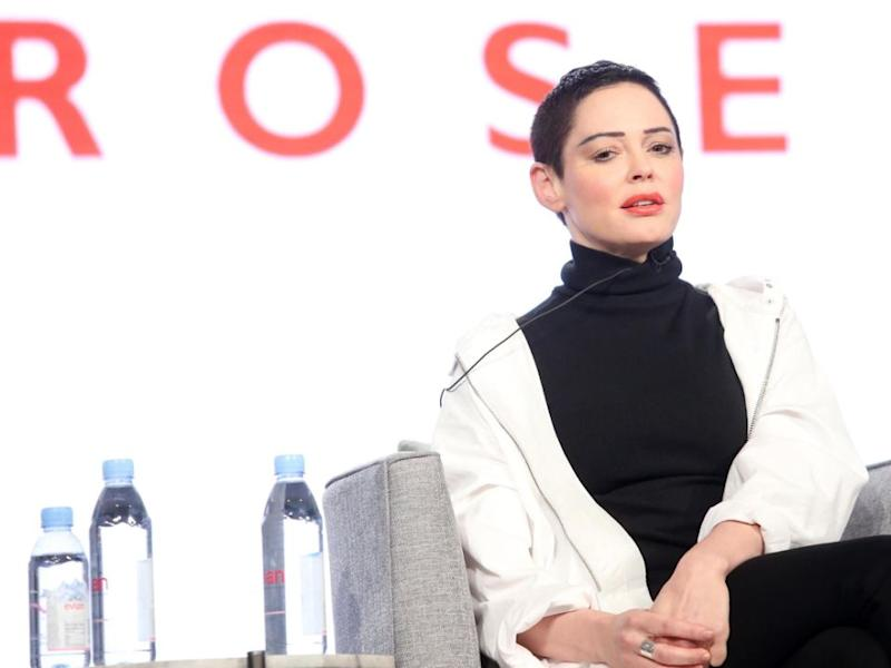 Anti-sex abuse campaigner Rose McGowan also grew up in the destructive cult. Source: Getty