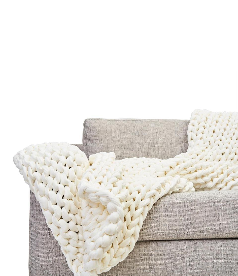 <p>I have the <span>Bearaby Cotton Napper</span> ($249) in white, and it fits perfectly into my minimally designed space.</p>