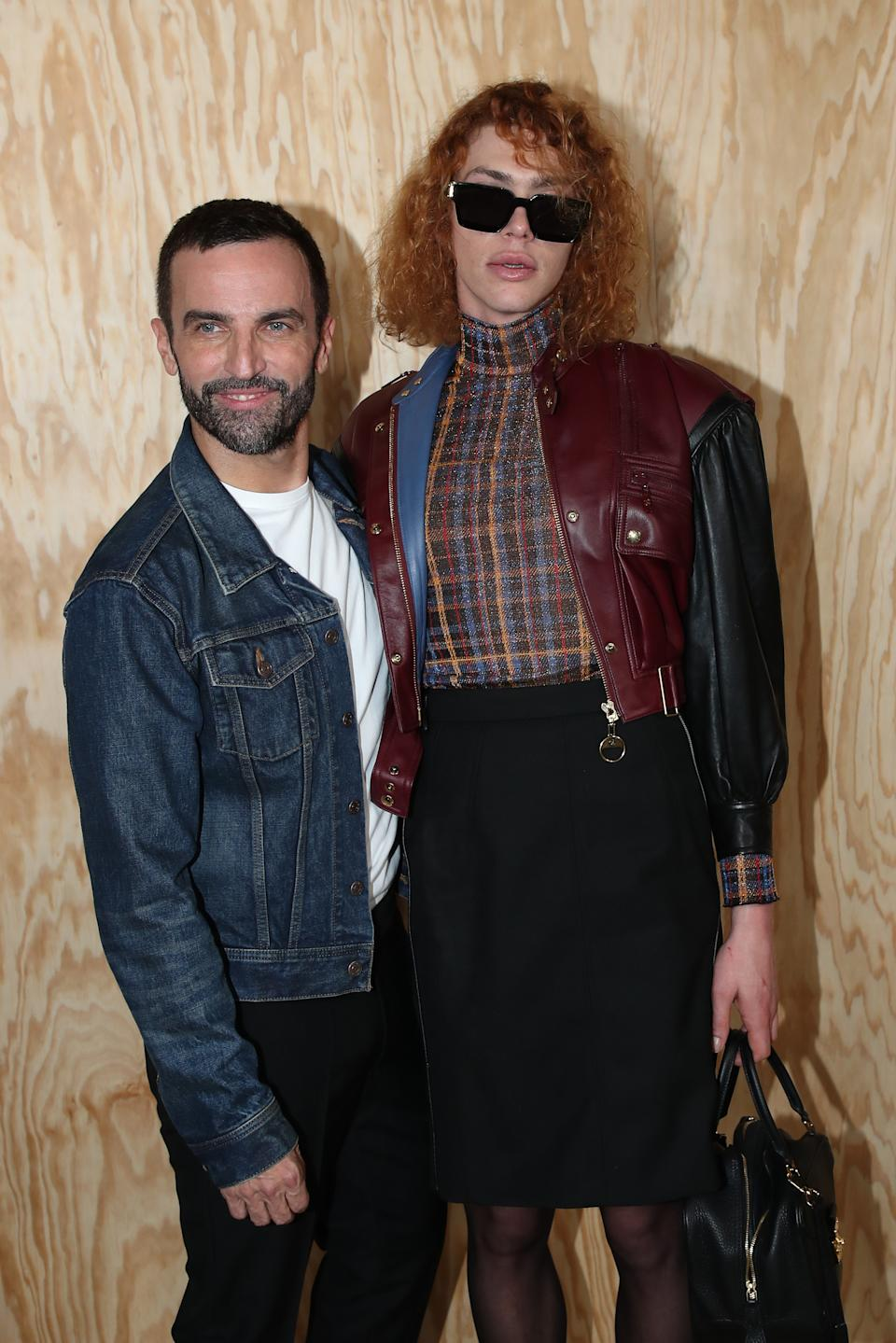PStylist of Vuitton, Nicolas Ghesquiere and singer of the show Sophie Xeon