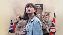 <p><strong>Watch on BBC One and iPlayer now</strong></p><p>This timely and gripping thriller is airing on BBC One now, adapted from Jo Bloom's bestselling novel of the same name, by Him & Her actress and writer Sarah Solemani. </p><p>The four-part thriller tells the story of young Jewish Woman Vivien Epstein (played by newcomer Agnes O'Casey), who leaves her comfortable life in Manchester to stand up to the growing neo-Nazi movement in post-war Britain.</p><p>BBC says: 'When Vivien discovers her missing boyfriend Jack (Tom Varley) has been badly injured, she infiltrates a neo-Nazi movement that's becoming increasingly prominent in East London, risking everything for her beliefs and for the man she loves.'</p>