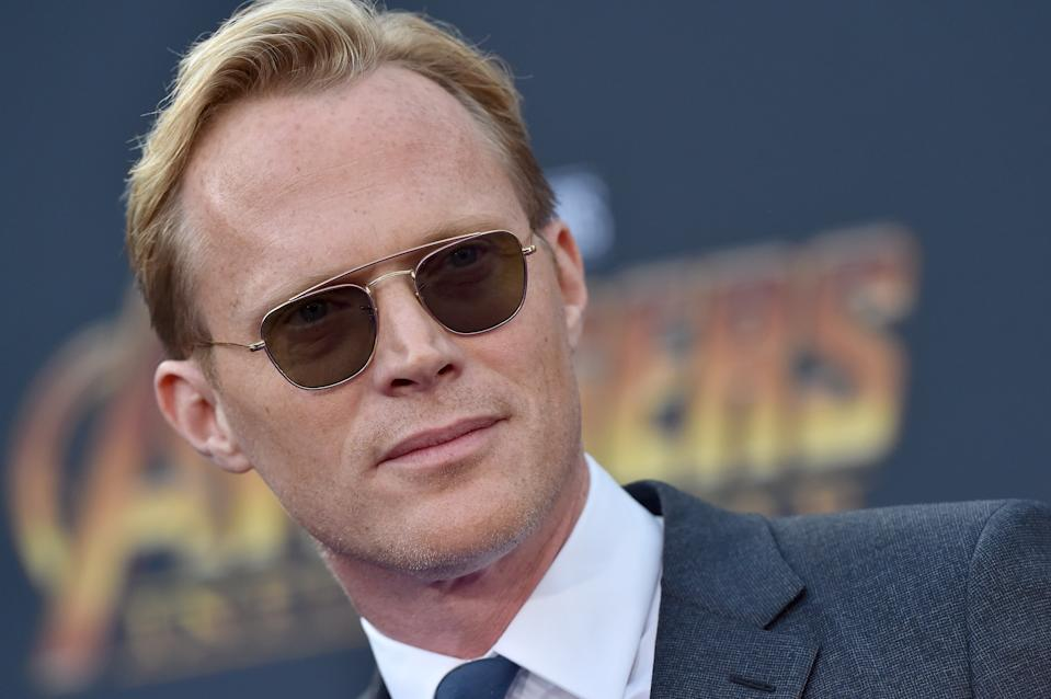 HOLLYWOOD, CA - APRIL 23:  Actor Paul Bettany attends the premiere of Disney and Marvel's 'Avengers: Infinity War' on April 23, 2018 in Hollywood, California.  (Photo by Axelle/Bauer-Griffin/FilmMagic)