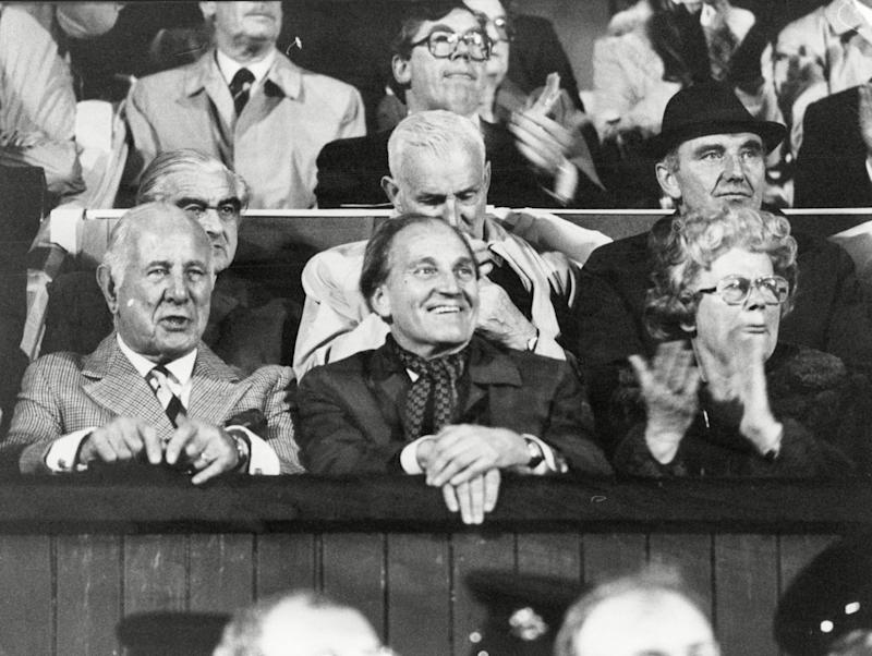 Tiede Herrema and his wife at a football match in Dublin in 1983: he retained an affection for Ireland his whole life - ANL/Shutterstock