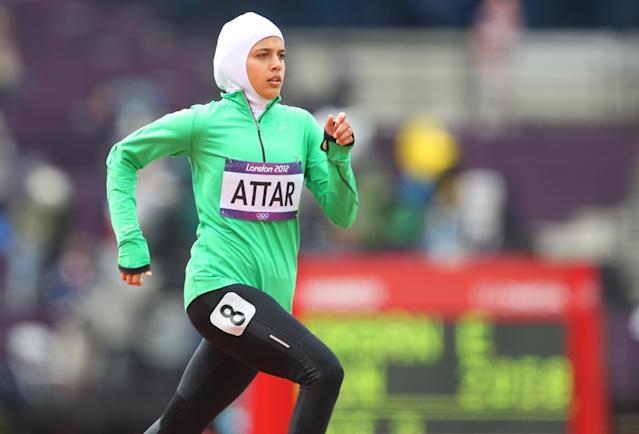 Saudi Arabia, known for its heavy restrictions on women, allowed female athletes to participate in the Olympics for the first time in 2012. Attar was one of them. The California-raised runner, who has dual citizenship in the U.S. and Saudi Arabia, returned for the 2016 Olympics. Attar competed fully covered in the games. Saudi Arabia was criticized for sending foreign-born athletes like Attar to compete when women living in the country are still banned from sports, but Attar hoped her participation would inspire those women to find ways to be active.