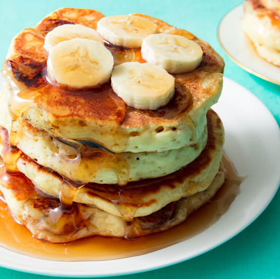 """<p>These are by far the fluffiest <a href=""""https://www.delish.com/uk/cooking/recipes/a30413750/perfect-pancakes-recipe/"""" rel=""""nofollow noopener"""" target=""""_blank"""" data-ylk=""""slk:pancakes"""" class=""""link rapid-noclick-resp"""">pancakes</a> we've ever made. If you don't like bananas (which I highly doubt, because you're here), you can skip them. Don't have sour cream? Sub in full-fat plain yogurt. </p><p>Get the <a href=""""https://www.delish.com/uk/cooking/recipes/a34725430/banana-pancake-recipe/"""" rel=""""nofollow noopener"""" target=""""_blank"""" data-ylk=""""slk:Fluffy Banana Pancakes"""" class=""""link rapid-noclick-resp"""">Fluffy Banana Pancakes</a> recipe.</p>"""