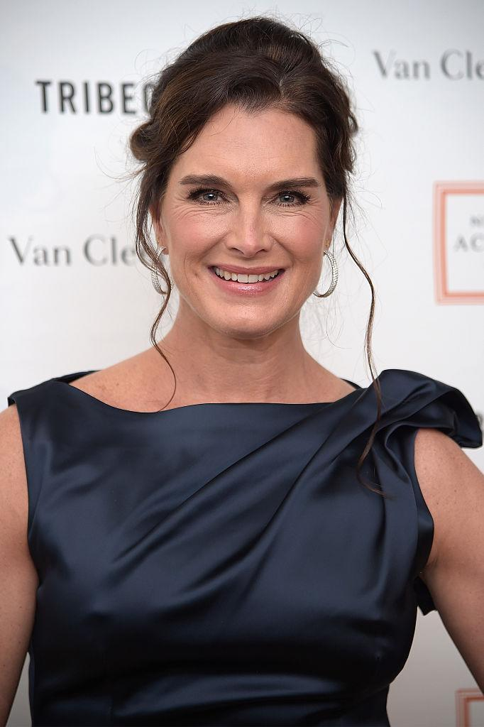<p>Shields gave birth to her second daughter, Grier Hammond Henchy, aged 40 [Photo: Getty] </p>