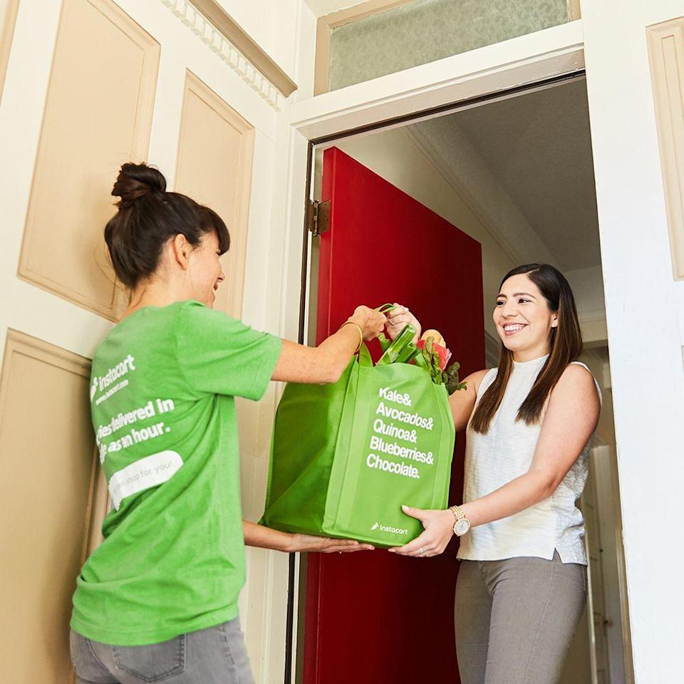 "<p>No time to run out to the store? No problem! <a href=""https://go.redirectingat.com?id=74968X1596630&url=https%3A%2F%2Fwww.instacart.com%2F&sref=https%3A%2F%2Fwww.womansday.com%2Ffood-recipes%2Ffood-drinks%2Fg22876225%2Fgrocery-stores-open-on-thanksgiving%2F"" rel=""nofollow noopener"" target=""_blank"" data-ylk=""slk:Instacart"" class=""link rapid-noclick-resp"">Instacart</a>, a grocery delivery service, will be delivering from 8 a.m. to 2 p.m. local time on Thanksgiving Day. Available in more than 5,500 cities, the company promises same-day delivery so you can keep an eye on all the delicious dishes your cooking and still get the last-minute items that you need. </p><p><strong>__________________________________________________________</strong><em>Want to make your holidays shine? You're in luck! <a href=""https://subscribe.hearstmags.com/subscribe/womansday/253396?source=wdy_edit_article"" rel=""nofollow noopener"" target=""_blank"" data-ylk=""slk:Subscribe to Woman's Day"" class=""link rapid-noclick-resp"">Subscribe to Woman's Day</a> today and get <strong>73% off your first 12 issues</strong>. And while you're at it, <a href=""https://subscribe.hearstmags.com/circulation/shared/email/newsletters/signup/wdy-su01.html"" rel=""nofollow noopener"" target=""_blank"" data-ylk=""slk:sign up for our FREE newsletter"" class=""link rapid-noclick-resp"">sign up for our FREE newsletter</a> for even more of the Woman's Day content you want.</em></p>"