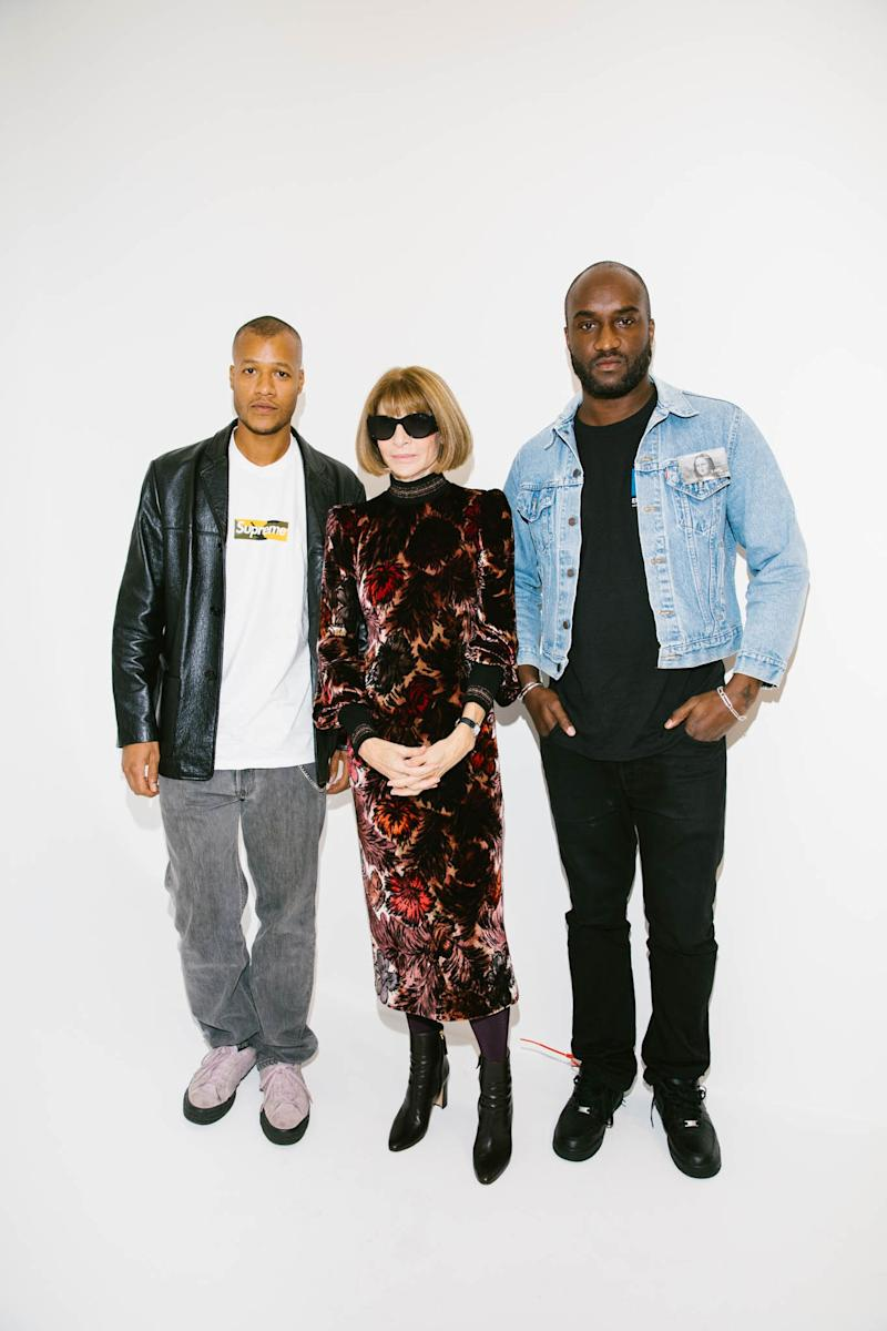 Heron Preston, Anna Wintour, and Virgil Abloh