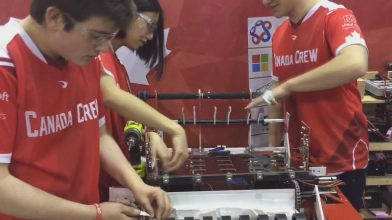 'I think we are going to win,' Calgary youth robotics competition heats up with teams from around the world
