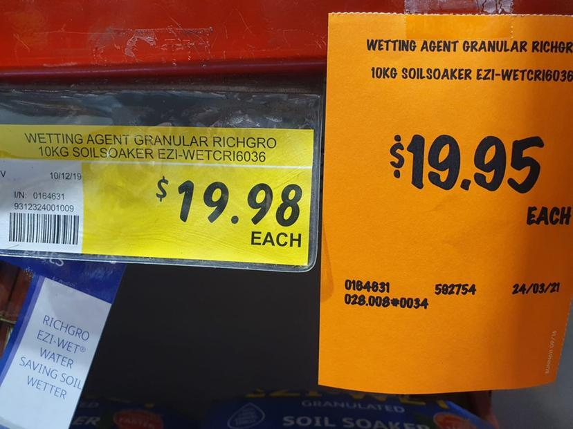 bunnings three cents discount price tag