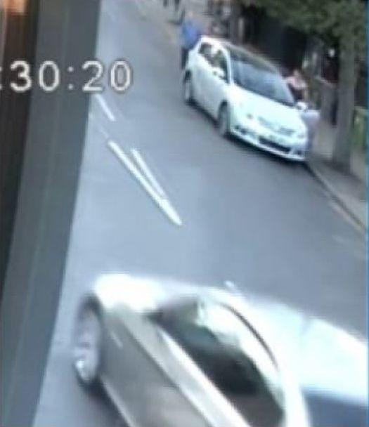 Police are searching for the driver of a silver car following the attack in Penge (Met Police)