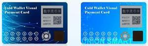 Images of cold vallet visual payment card