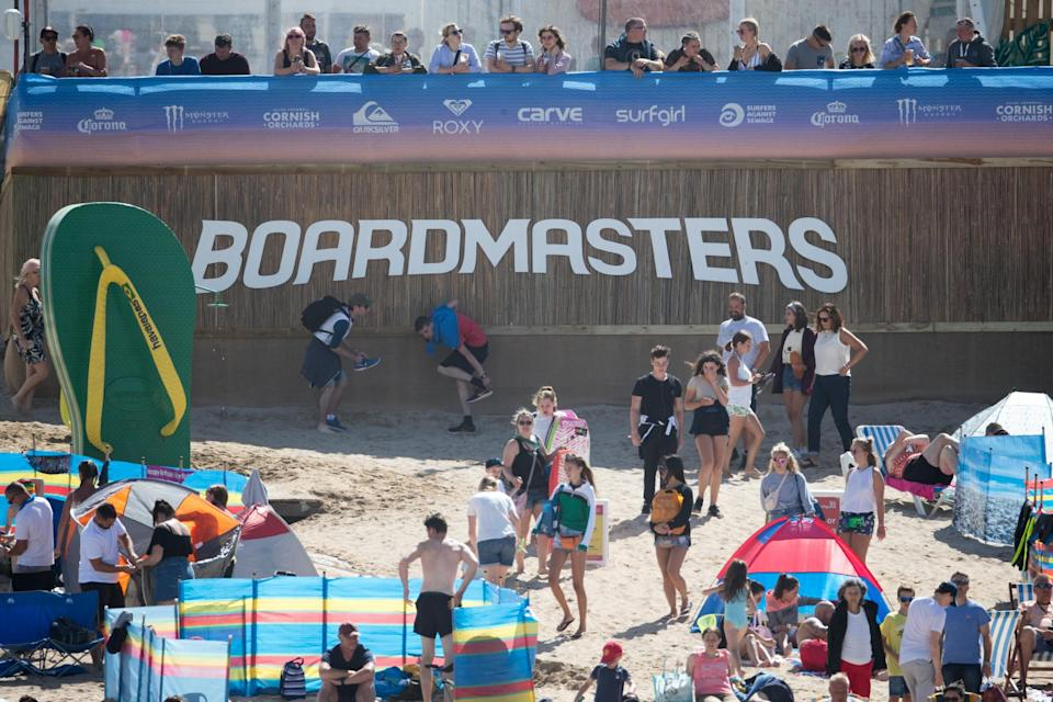The festival combines surfing and live musicGetty Images