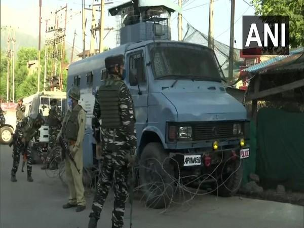 Security Forces surveilling the area (Photo/ANI)