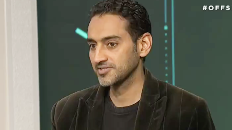 TV host and political commentator Waleed Aly is pictured during ABC program Offsiders.