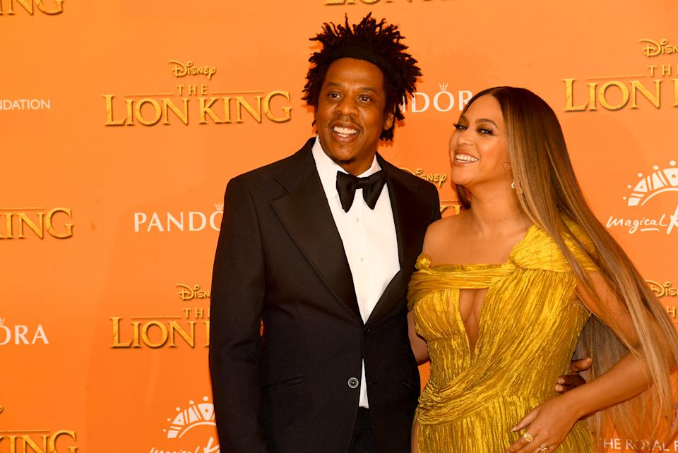 LONDON, ENGLAND - JULY 14: Jay Z and Beyonce Knowles-Carter attend